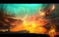 修魔地狱场景概念图