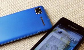 四核超大屏 蓝色联想乐Phone K860图赏