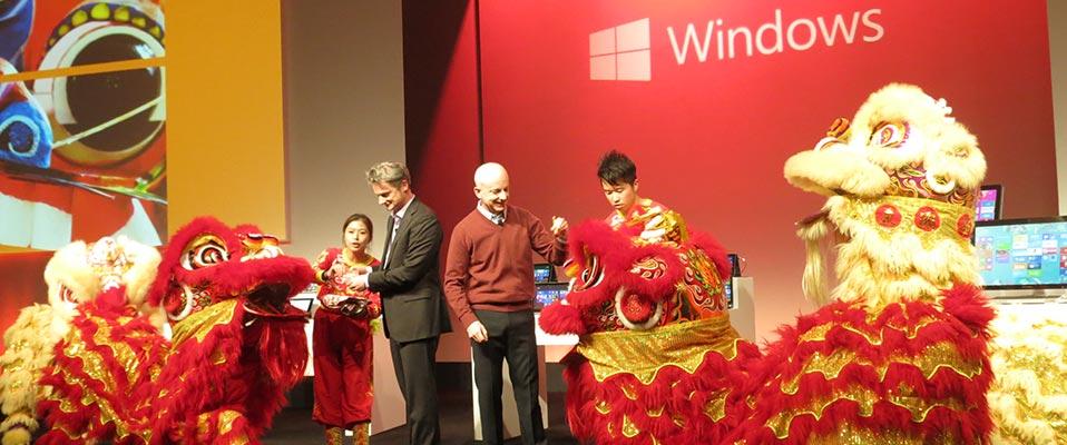 10月23日上海Win8发布会现场