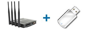 磊科NW765 + 移动存储设备