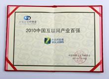 2010中国互联网产业百强