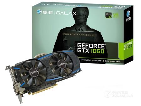 影驰GeForce GTX 1060黑将显卡售1288元