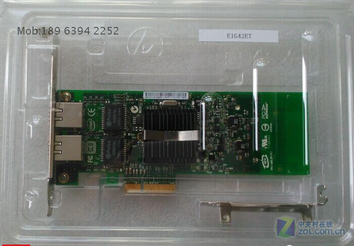 INTEL E1G42ET双千兆网卡全新特价290元