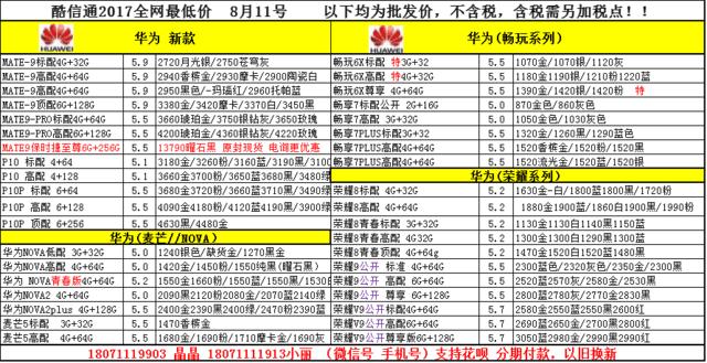 华为P10高清双摄武汉价格好划算0元分期