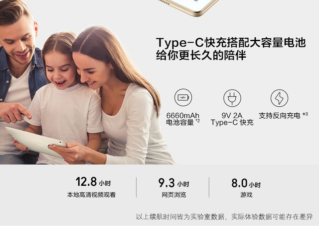 64G华为防水平板water play 济南2260元