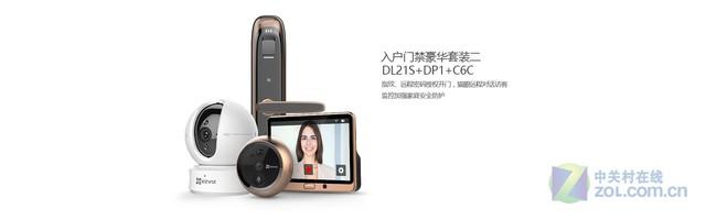 入户门禁豪华套装DL21S+DP1+C6C 仅需3400元