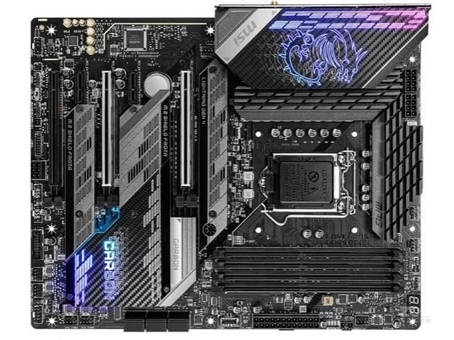 微星(MSI)MPG Z590 GAMING CARBON WiFi暗黑板主板