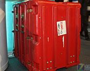 """华为公司的红色""""机柜"""""""