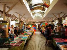 玩具相机效果拍摄海鲜市场