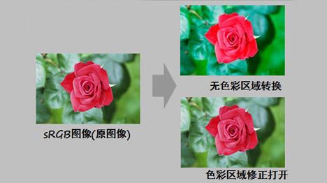 sRGB色域切换功能