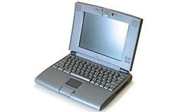 首款配备锂离子电池和TFT液晶屏的笔记本