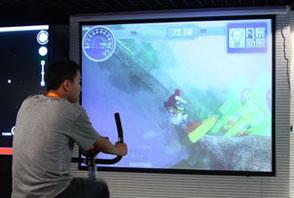竞技健身系统 用投影模拟室内比赛场地