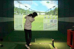 室内高尔夫 3D投影实现立体健身影院