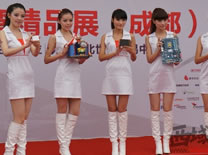 美女模特现场展示台湾精品