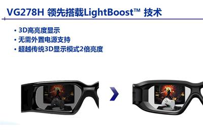 华硕VG278H领先搭载LightBoost 技术