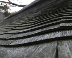 屋顶的瓦片和中国不同
