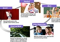 五种音频拍摄模式