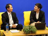 李俊瑩与主持人交流