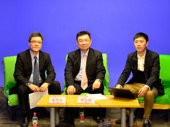 罗经翔(中)与曾伟文(左)莅临ZOL