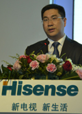 海信电器营销公司副总经理 胡剑涌
