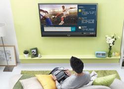 联想智能电视观看劲爆球赛