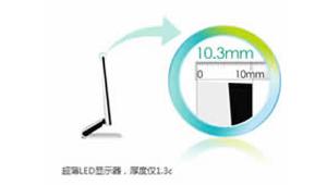 超薄LED,厚度仅1.3cm