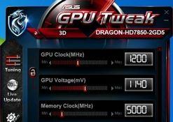 华硕龙卡HD7850超频测试