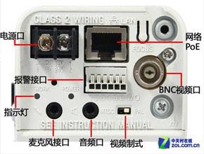 索尼CH140监控摄像机背部面板设计