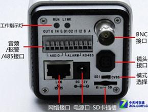 科达120-A监控摄像机升级后背部面板结构