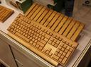 竹子做的键盘?