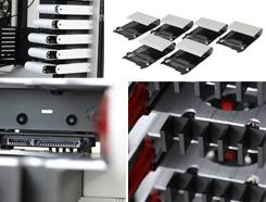 硬盘安装及走线展示