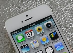 iPhone 5前置摄像头及听筒