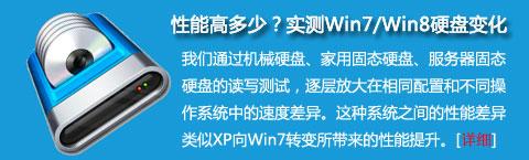 性能提高多少?硬盘对比实测Win7/Win8